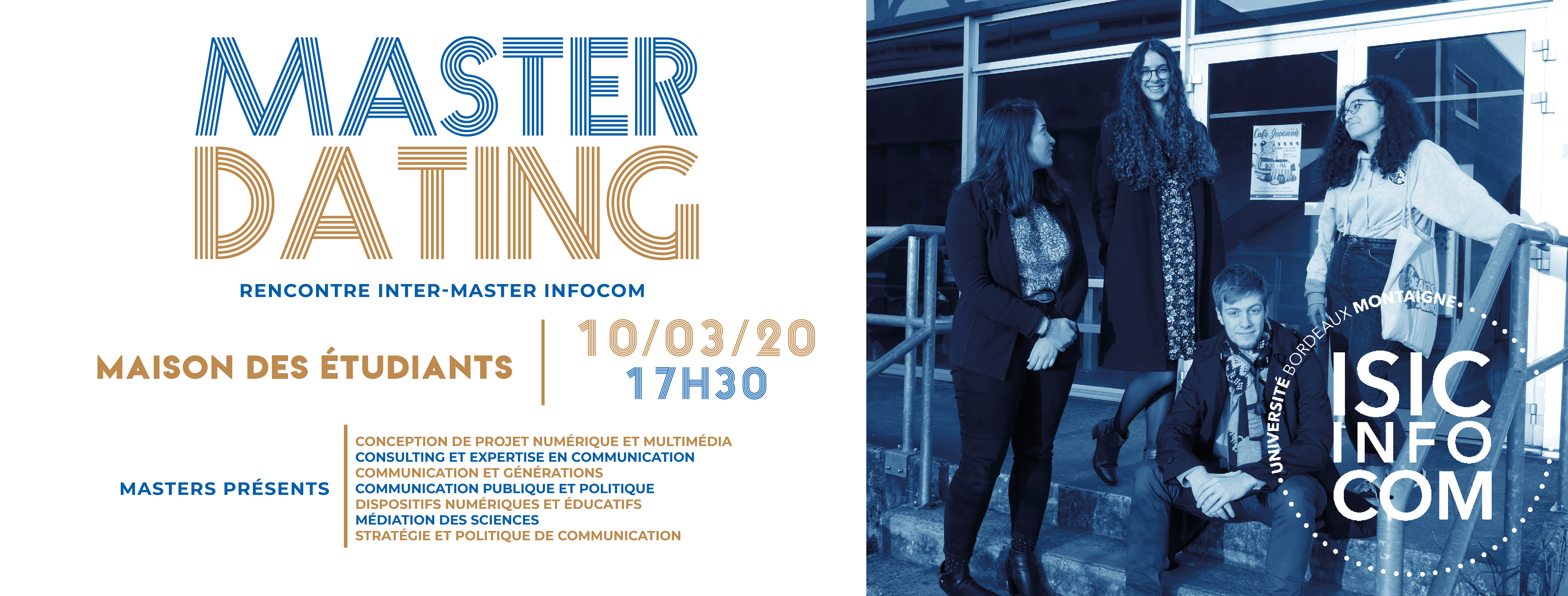 Master Dating : Rendez-vous le 10 Mars