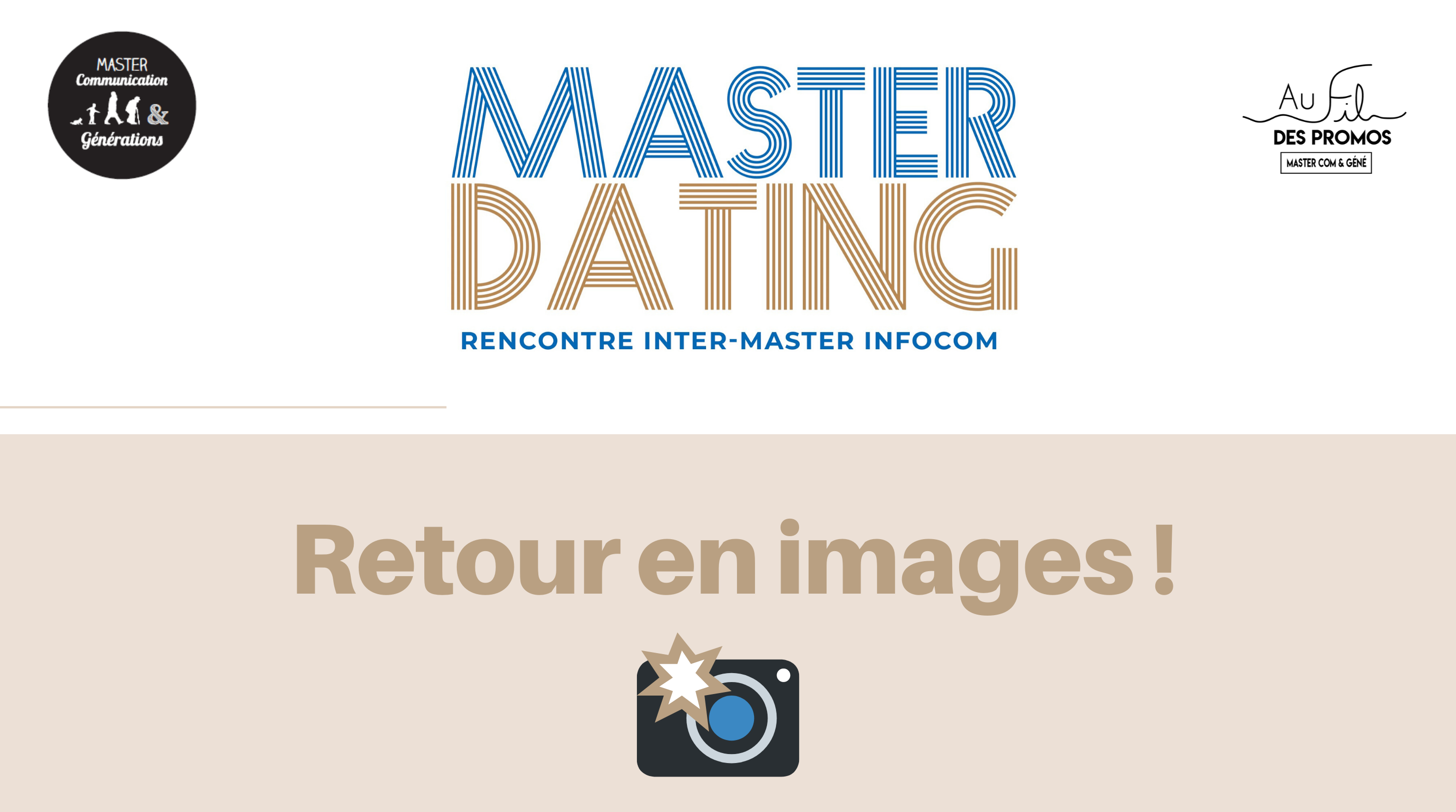 MASTER DATING : retour en images