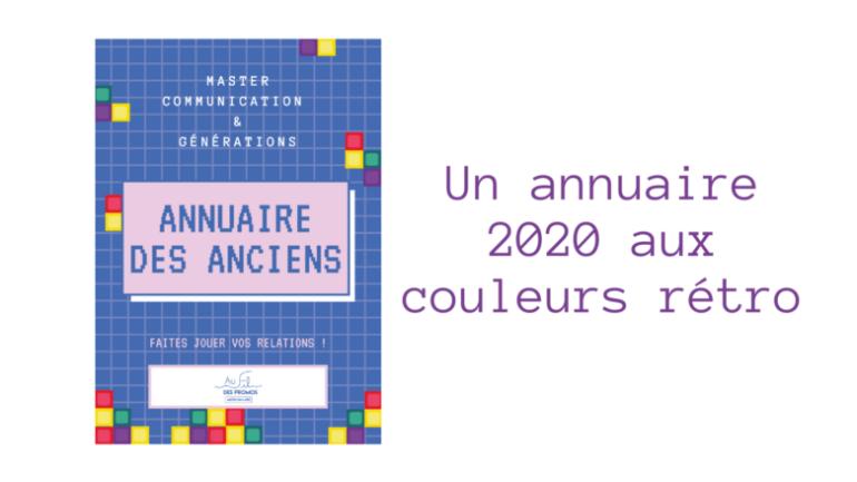 Un annuaire 2020 aux couleurs rétro !