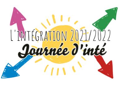 L'intégration 2021/2022 ! – la journée d'intégration